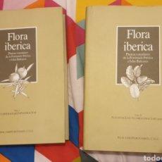 Libros de segunda mano: FLORA IBÉRICA PLANTAS VASCULARES DE LA PENÍNSULA IBÉRICA E ISLAS BALEARES. TOMO 1 Y 2. Lote 195503961