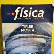 Libros de segunda mano de Ciencias: FÍSICA PARA LA CIENCIA Y LA TECNOLOGÍA - TIPLER, PAUL ALLEN; MOSCA, GENE - 5 EDICION. Lote 195527086