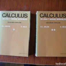Libros de segunda mano de Ciencias: DOS LIBROS MATEMÁTICAS CÁLCULO CALCULUS SALAS HILLE. Lote 195536872