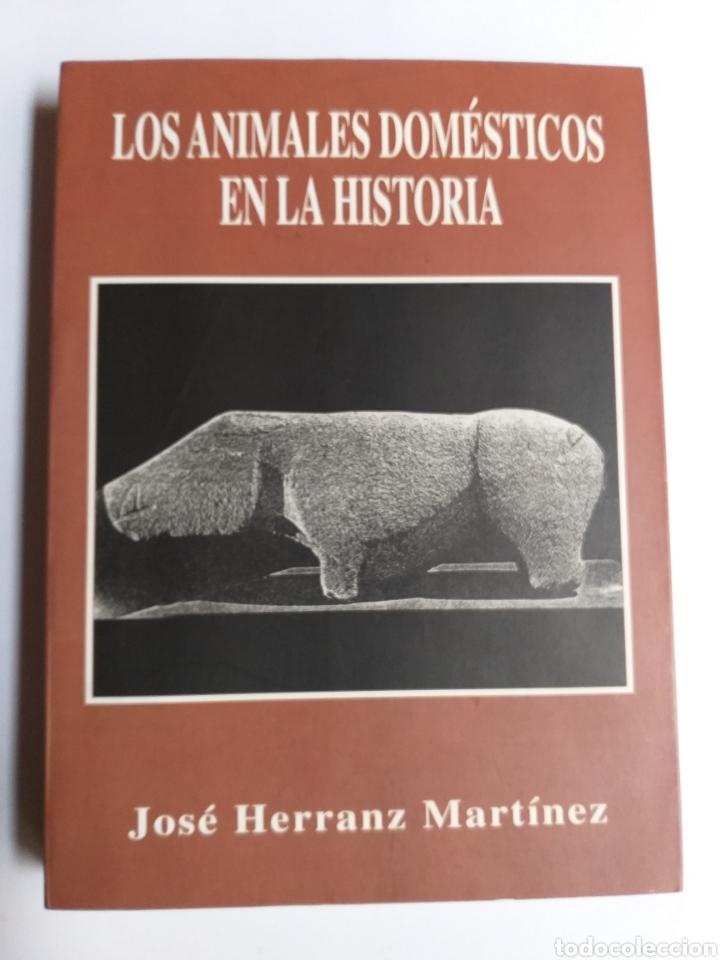 LOS ANIMALES DOMÉSTICOS EN LA HISTORIA . JOSÉ HERRANZ MARTÍNEZ 2003 . . ANIMALES MASCOTAS PERROS (Libros de Segunda Mano - Ciencias, Manuales y Oficios - Biología y Botánica)