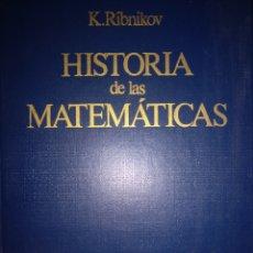 Livros em segunda mão: RIBINIKOV HISTORIA DE LAS MATEMÁTICAS. Lote 276462218