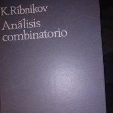 Livros em segunda mão: RIBINIKOV ANÁLISIS COMBINATORIO. Lote 276381568