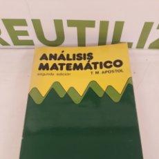 Libros de segunda mano de Ciencias: ANALISIS MATEMATICO.T M APOSTOL.SEGUNDA EDICION.. Lote 214076572