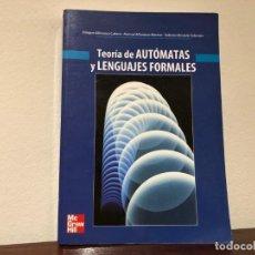 Libros de segunda mano de Ciencias: TEORÍA DE AUTÓMATAS Y LENGUAJES FORMALES. E. ALFONSECA, M. ALFONSECA R. MORIYÓN. MC GRAW HILL. Lote 195778148