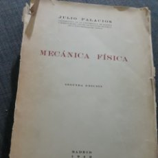 Libros de segunda mano de Ciencias: MECANICA FÍSICA. JULIO PALACIOS. AÑO 1949. Lote 195863938