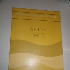 Libros de segunda mano: MAPA GEOTECNICO GENERAL AVILA HOJA 4-6 44 MINISTERIO DE INDUSTRIA 1974 IGME. Lote 195005253