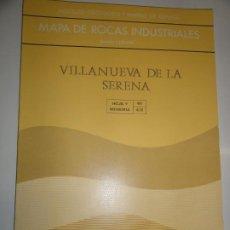 Livros em segunda mão: MAPA GEOTECNICO GENERAL VILLANUEVA DE LA SERENA HOJA 4-8 60 MINISTERIO DE INDUSTRIA 1976 IGME. Lote 195005527
