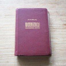 Libros de segunda mano de Ciencias: MATEMATICAS PARA INGENIEROS Y TECNICOS . R. DOERFLING ING.. Lote 197083871
