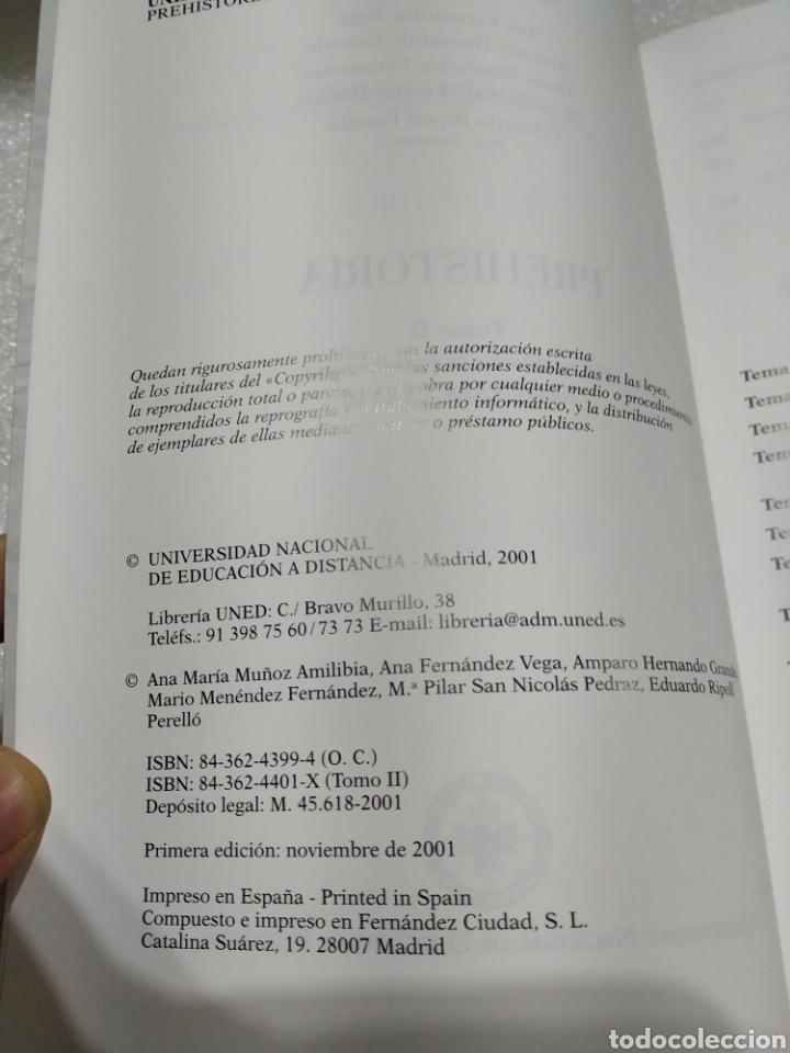 Libros de segunda mano: PREHISTORIA. UNED. 2 tomos. Nuevos - Foto 3 - 197673647