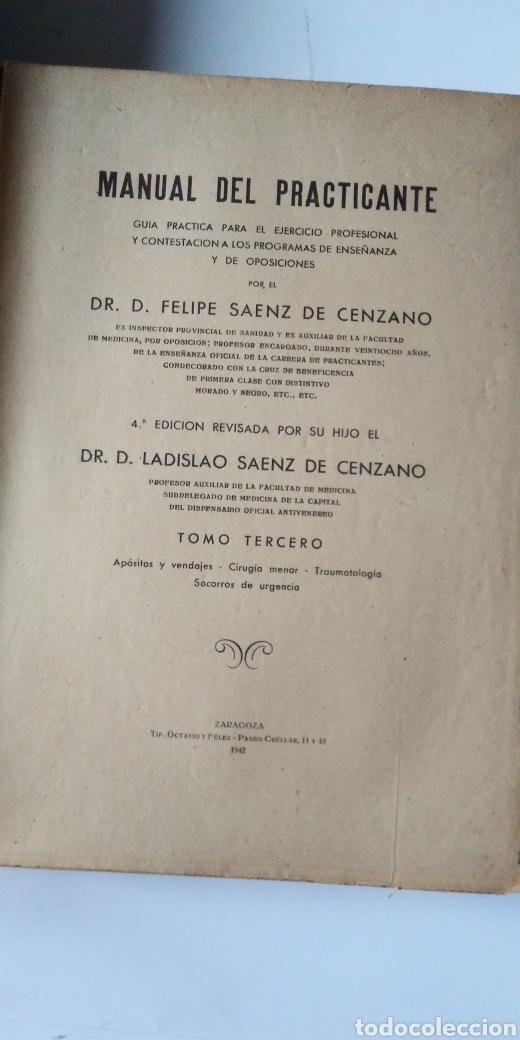 Libros de segunda mano de Ciencias: MANUAL DEL PRACTICANTE - Foto 8 - 198533457