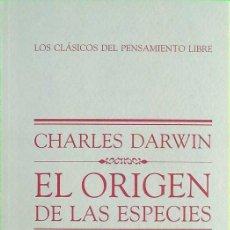 Livres d'occasion: EL ORIGEN DE LAS ESPECIES - CHARLES DARWIN. Lote 198612731
