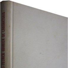Libros de segunda mano de Ciencias: REF.0032199 TÉCNICA QUÍMICA DE LABORATORIO / EDUARDO RODRIGUEZ SANTOS, DR. EN QUÍMICA INDS.. Lote 199160732
