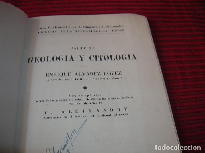 Libros de segunda mano: Libro Geologia y Citologia por Enrique Alvarez Lopez,año 1943 - Foto 4 - 199453813