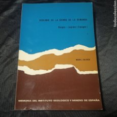 Livros em segunda mão: GEOLOGÍA SIERRA DEMANDA BURGOS LOGROÑO INSTITUTO GEOLÓGICO Y MINERO DE ESPAÑA COLCHEN 1974. Lote 199488295