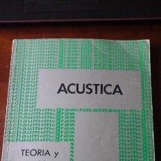 Libros de segunda mano de Ciencias: ACÚSTICA. TEORÍA Y 245 PROBLEMAS RESUELTOS (MÉXICO, 1973). Lote 199705178