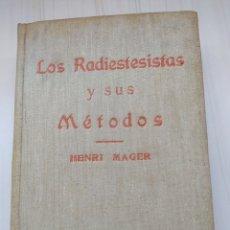 Libros de segunda mano de Ciencias: LOS RADIESTESISTAS Y SUS METODOS. Lote 199708960