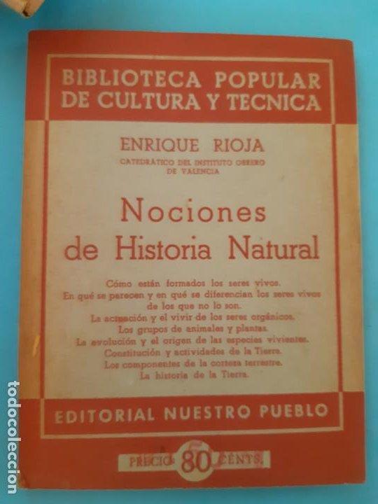 ENRIQUE ROJA, NOCIONES DE HISTORIA NATURAL. EDITORIAL NUESTRO PUEBLO. BIBLIOTECA POPULAR (Libros de Segunda Mano - Ciencias, Manuales y Oficios - Biología y Botánica)