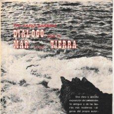 Libros de segunda mano: DIÁLOGO CON EL MAR Y LA TIERRA (PIO TAPIZ GARNICA 1971) SIN USAR. Lote 200330071