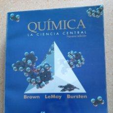 Libros de segunda mano de Ciencias: LIBRO QUIMICA LA CIENCIA CENTRAL.. Lote 200658548