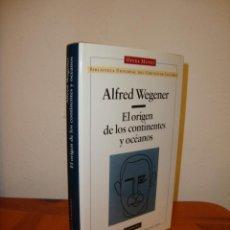 Livres d'occasion: EL ORIGEN DE LOS CONTINENTES Y OCÉANOS - ALFRED WEGENER - GALAXIA GUTENBERG, OPERA MUNDI. Lote 201157038