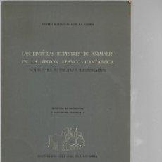 Libros de segunda mano: LIBRO DE BENITO M. A DE LA CAMPA LAS PINTURAS RUPESTRE DE ANIMALES EN LA REGION FRANCO - CANTABRI. Lote 202024990