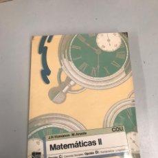 Libros de segunda mano de Ciencias: MATEMÁTICAS 2. Lote 202044680