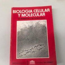 Libros de segunda mano: BIOLOGÍA CELULAR Y MOLECULAR. Lote 202833266