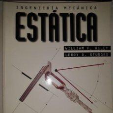 Libros de segunda mano de Ciencias: INGENIERÍA MECÁNICA ESTÁTICA UNIDADES MÉTODO PROBLEMAS SOLUCIONES EQUILIBRIO ARMADURAS MÁQUINAS ROZA. Lote 203829751
