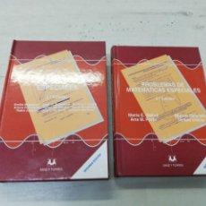 Libros de segunda mano de Ciencias: E. BUJALANCE / MARIA E BALLVE, PROBLEMAS DE MATEMÁTICAS ESPECIALES, MATEMÁTICAS ESPECIALES 2 LIBROS. Lote 204429935