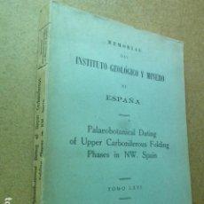 Libros de segunda mano: PALEOBOTANICAL DATING OF UPPER CARBONIFEROUS FOLDING PHASES IN NW. SPAIN. MEMORIAS DEL INSTITUTO. Lote 204978377