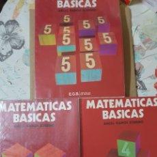 Libros de segunda mano de Ciencias: MATEMÁTICAS BÁSICAS NºS 3 4 Y 5. EGB AÑO 1978. POR ANGEL RAMOS SOBRINO. Lote 205201188