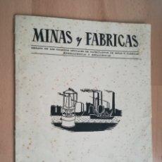 Libros de segunda mano: MINERIA. REVISTA MINAS Y FÁBRICAS. NÚMERO 1.(1956). MUY RARA.. Lote 205300090