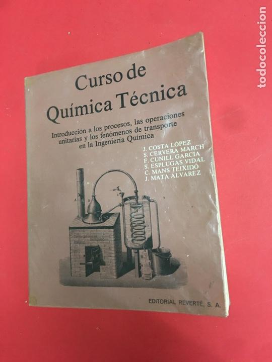 CURSO DE QUÍMICA TÉCNICA (Libros de Segunda Mano - Ciencias, Manuales y Oficios - Física, Química y Matemáticas)