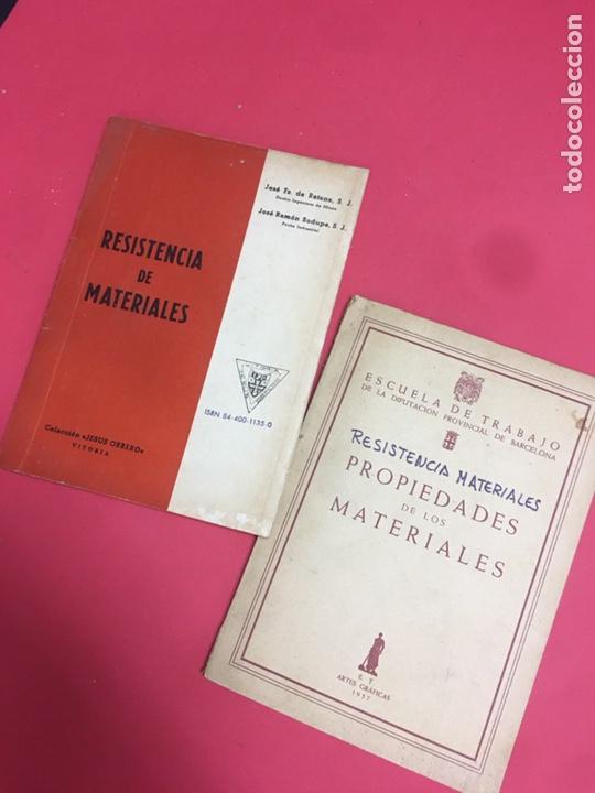 LOTE 2 LIBROS RESISTENCIA DE MATERIALES (Libros de Segunda Mano - Ciencias, Manuales y Oficios - Física, Química y Matemáticas)
