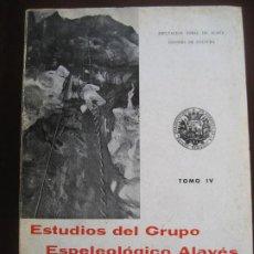 Libros de segunda mano: ESTUDIOS DEL GRUPO ESPELEOLOGICO ALAVÉS. DIPUTAVION FORAL DE ALAVA. 196-1967-1968.. Lote 205404702