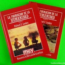 Libros de segunda mano: LA FORMACIÓN DE LA HUMANIDAD (VOLUMEN 1 Y 2) - RICHARD E. LEAKEY. Lote 205293511
