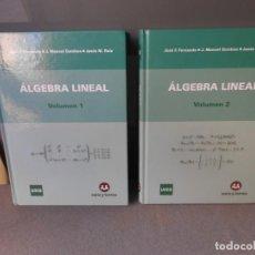 Libros de segunda mano de Ciencias: ALBEBRA LINEAL. DOS TOMOS. Lote 206355048