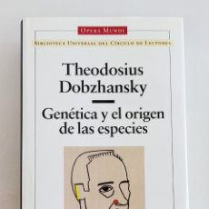 Libros de segunda mano: GENÉTICA Y EL ORIGEN DE LAS ESPECIES. THEODOSIUS DOBZHANSKY. OPERA MUNDI. Lote 207232590