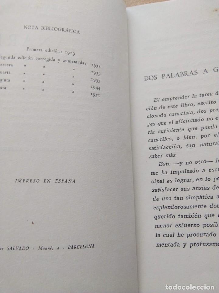 Libros de segunda mano: EL CANARIO Y SU REPRODUCCION. L. CARRERAS 1951 - Foto 4 - 207241450