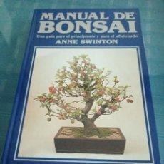 Libros de segunda mano: MANUAL DE BONSAI. UNA GUÍA PARA EL PRICIPIANTE Y PARA EL AFICIONADO. ANNE SWINTON EDIT OMEGA. 1987. Lote 207254803