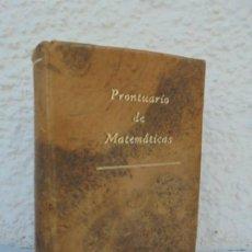Libros de segunda mano de Ciencias: PRONTUARIO DE MATEMATICAS. MANUAL. I.BRONSHTEIN, K.SEMENDIAEV. ED CULTURA POPULAR.. Lote 207630278