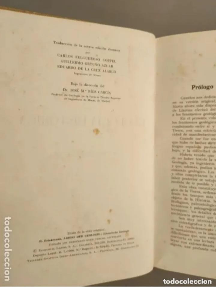 Libros de segunda mano: COMPENDIO DE GEOLOGÍA HISTÓRICA, BRINKMANN 1966 - Foto 3 - 207975622