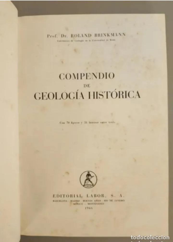 Libros de segunda mano: COMPENDIO DE GEOLOGÍA HISTÓRICA, BRINKMANN 1966 - Foto 2 - 207975622