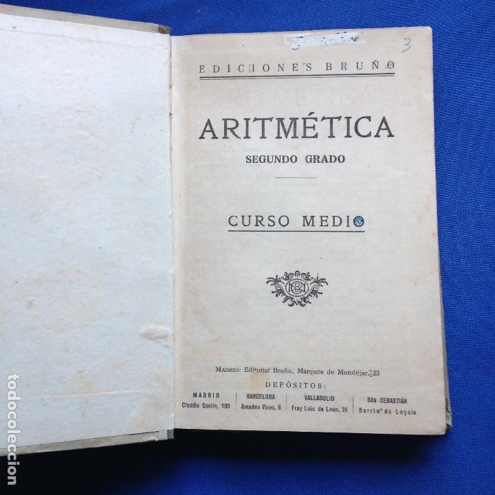Libros de segunda mano de Ciencias: TRATADO DE ARIRMETICA 2ºGRADO - EDICIONES BRUÑO - CURSO MEDIO - 1942 - Foto 2 - 208334803