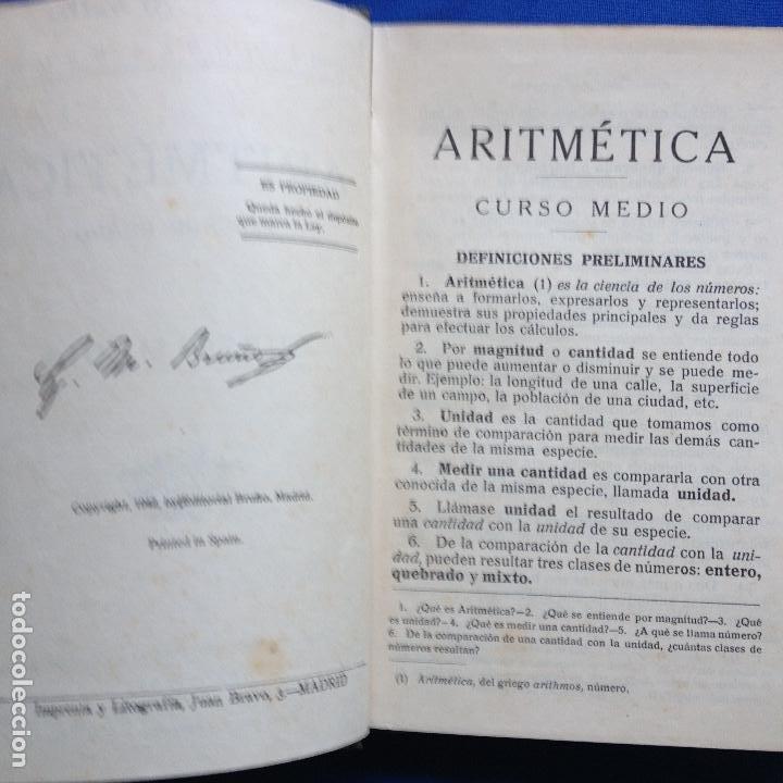 Libros de segunda mano de Ciencias: TRATADO DE ARIRMETICA 2ºGRADO - EDICIONES BRUÑO - CURSO MEDIO - 1942 - Foto 3 - 208334803