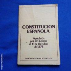 Libros de segunda mano de Ciencias: CONSTITUCION ESPAÑOLA 1978 - EN CASTELLANO Y CATALAN-. Lote 208356016