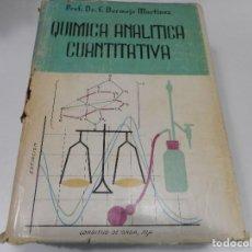 Libros de segunda mano de Ciencias: DR. F. BERMEJO MARTÍNEZ TRATADO DE QUÍMICA ANALÍTICA CUANTITATIVA Q1166W. Lote 208367198