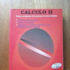 Libri di seconda mano: CALCULO II TEORIA Y PROBLEMAS DE FUNCIONES DE VARIAS VARIABLES, CLAGSA, ALFONSA GARCIA ANTONIO LOPEZ. Lote 209571828
