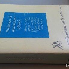 Libros de segunda mano de Ciencias: PROBLEMAS DE MATEMATICAS ESPECIALES - CUADERNOS DE LA UNED - VV AA Z401. Lote 209615588