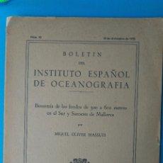 Libros de segunda mano: BIONOMÍA DE LOS FONDOS DE 300 A 600 METROS EN EL SUR Y SUROESTE DE MALLORCA. Lote 209769346